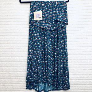 LuLaRoe Skirts - LuLaRoe Blue Chevron Multicolor Print Maxi Skirt